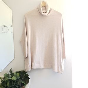 Anthropologie Maeve • dusty blush pink sweater